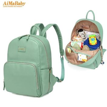 PU Leather Baby Bag Organizer Tote Diaper Bags Mom Backpack Mother Maternity Bags Diaper Backpack Large Nappy Bag