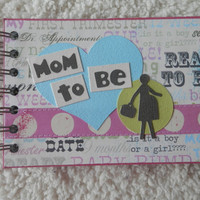 4x6 Pregnancy Chipboard Mini Scrapbook
