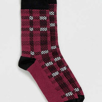 Red Tartan Check Socks - Sale