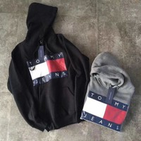 Tommy Hilfiger Woman/Man Fashion Hooded Top Pullover Sweater Sweatshirt Hoodie