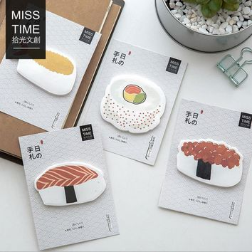 2X cute Delicious sushi N times plan Sticky Notes Post It Memo Pad kawaii stationery School Supplies Planner Stickers Paper