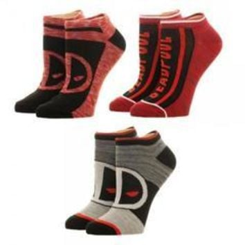 Marvel Deadpool Ankle Socks 3 Pack