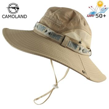 UPF 50+ Bucket Hat Summer Men Women Boonie Hat Outdoor UV Protection Long Wide Brim Panama Safari Hunting Hiking Fishing Sun Hat