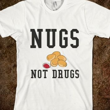White T-Shirt | Funny Chicken Nuggets Food Shirts