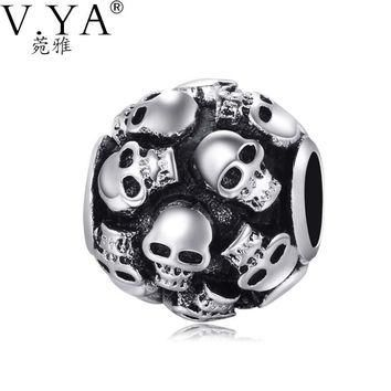 Skull Charms Beads fit Pandora