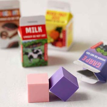 Milk Carton Eraser Set