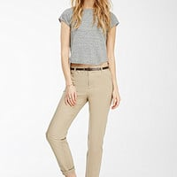 Belted Chino Pants