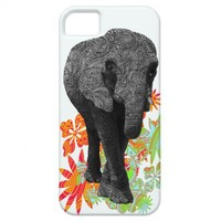 Cute Hippie Elephant iPhone5 cases iPhone 5 Cases from Zazzle.com