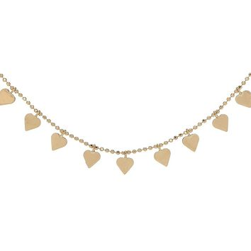 Multi-Heart Necklace 14KT