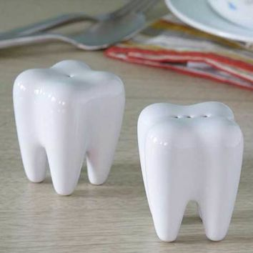 Tooth Salt & Pepper Shakers