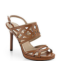 Diane von Furstenberg - Dakota Leather Cutout Sandals<br> - Saks Fifth Avenue Mobile