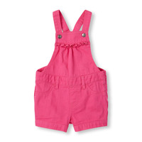 Toddler Girls Solid Shortall   The Children's Place