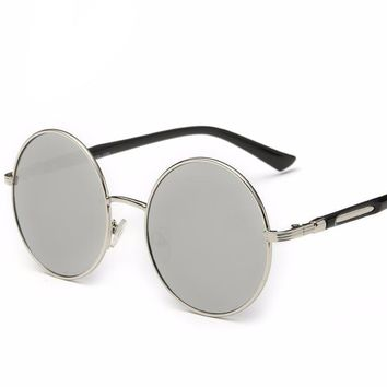 Retro Coating Mirror Steampunk Sun Glasses