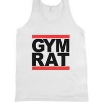 Gym Rat-Unisex White Tank
