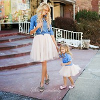 Parents and Children Outfit family matching mother daughter set mom and daughter dress Mom And Kids