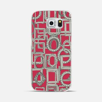 picture frames aplenty red S6 Galaxy S6 Edge case by Sharon Turner | Casetify