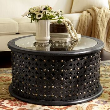 Bamileke Carved Wood Coffee Table