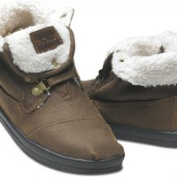Highlands Brown Fleece Women's Botas | TOMS.com