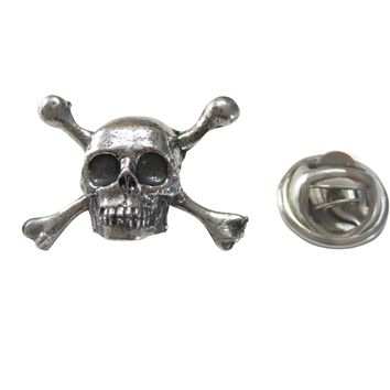 Skull Cross Bones Lapel Pin