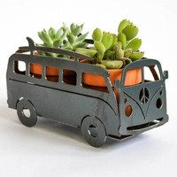 Surfing Van Camper Metal Planter