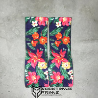 Tropical Flowers - Custom Sublimated Socks - Socktimus Prime