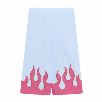 VIVETTA KIDS - Cookie Flame Pull-on Wide Leg Sweat Pants in Blue and Red