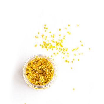 Edible Gold Metallic Stars, Edible Stars, Sprinkles, Stars