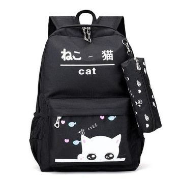 University College Backpack ARNOCHEN Canvas s  Wind High School Girls bags Tide School Student bag External USB Charging Trend  XD081AT_63_4