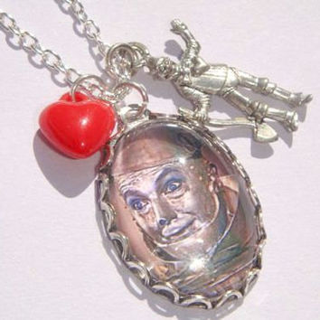 Wizard of Oz Necklace - Tinman Necklace - Picture Charm Necklace - Wizard of OZ - Wicked OZ Jewelry - Tinman Jewellery
