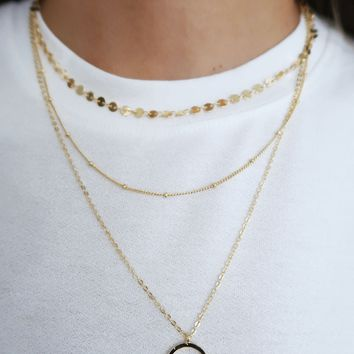 Stand By You Necklace: Gold