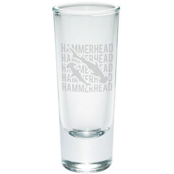 LMFCY8 Hammerhead Shark Stack Repeat Etched Shot Glass Shooter