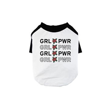 365 Printing Girl Power Pet Baseball Shirt for Small Dogs Womens March Outfit