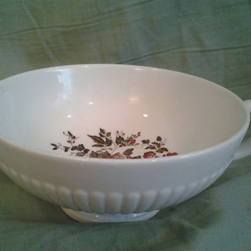 Vintage Soup Bowl Vintage China Wedgwood Conway Edme England English Floral Roses Double Handle Soup Bowl Shabby Chic Cottage Style
