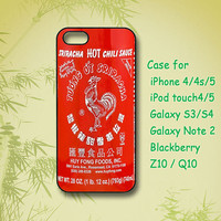 Chili Sauce - iPhone 5 Case - iPhone 4 Case- ipod 4 case - ipod 5 case- Samsung Galaxy S4- Samsung Galaxy S3 -Samsung note 2
