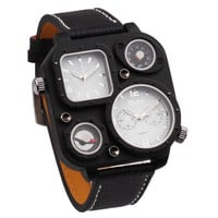 Watches Compass Thermometer Fashion Mens Watch