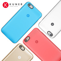 KUNER Colorful 2400mAh Rechargeable External Battery Backup Charger Case Power Bank Fits for Apple iPhone 6/6S 4.7inch  HU811
