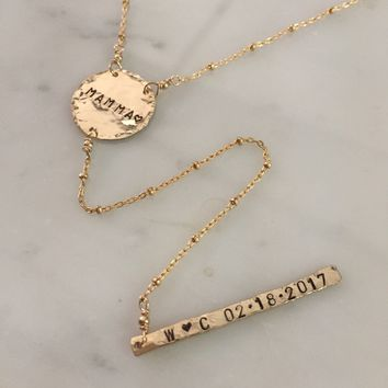 Personalized Y Necklace