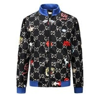 GUCCI 2018 autumn and winter new casual wild high-end zipper jacket