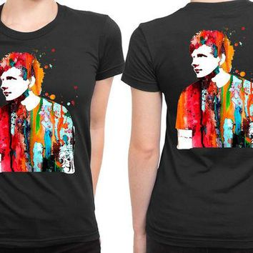 DCCKL83 Ed Sheeran Luke And Slavi 2 Sided Womens T Shirt