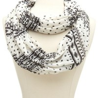 Paisley Tribal Infinity Scarf: Charlotte Russe