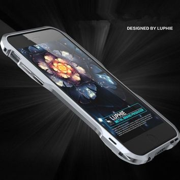 Luphie Newest Version Shockproof Armor Irregularly Aluminum Metal Screw Frame Bumper For iphone 8 7 6 6S Plus 5 5S SE Case Cover