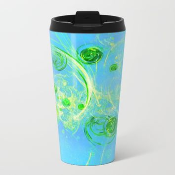 Summer Tree of Life - #Abstract #Art by Menega Sabidussi #society6 Metal Travel Mug by Menega Sabidussi