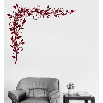 Vinyl Decal Branches Leaves Patterns Home Floral Decoration Wall Stickers Unique Gift (ig3115)