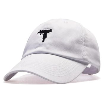 top selling Uzi Gun Baseball Cap US Fashion Ak47 Snapback Hip hop Cap  Curve visor 6 panel Hat casquette de marque