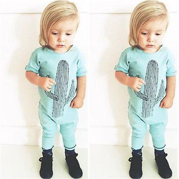 Baby Children Romper Clothing Kids Baby Girl Clothes Romper Jumpsuit Letter Short Sleeve Playsuit Pajamas Outfits 0-3Y