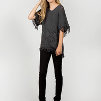 Apparel- Belinda Knitted Fringe Sweater