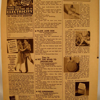 Vintage ephemera Song Hits Magazine page 1943  by ScrappyDoodads