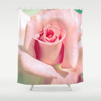 VINTAGE ROSE Shower Curtain by Oksana Ladyzhynska