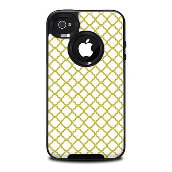 The Yellow & White Seamless Morocan Pattern V2 Skin for the iPhone 4-4s OtterBox Commuter Case