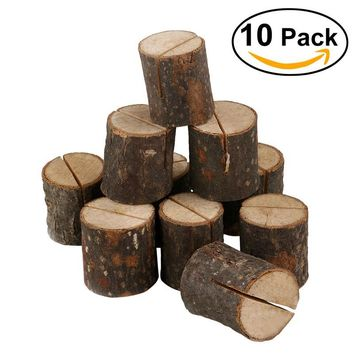 10 pcs Wooden Name Place Card Holders